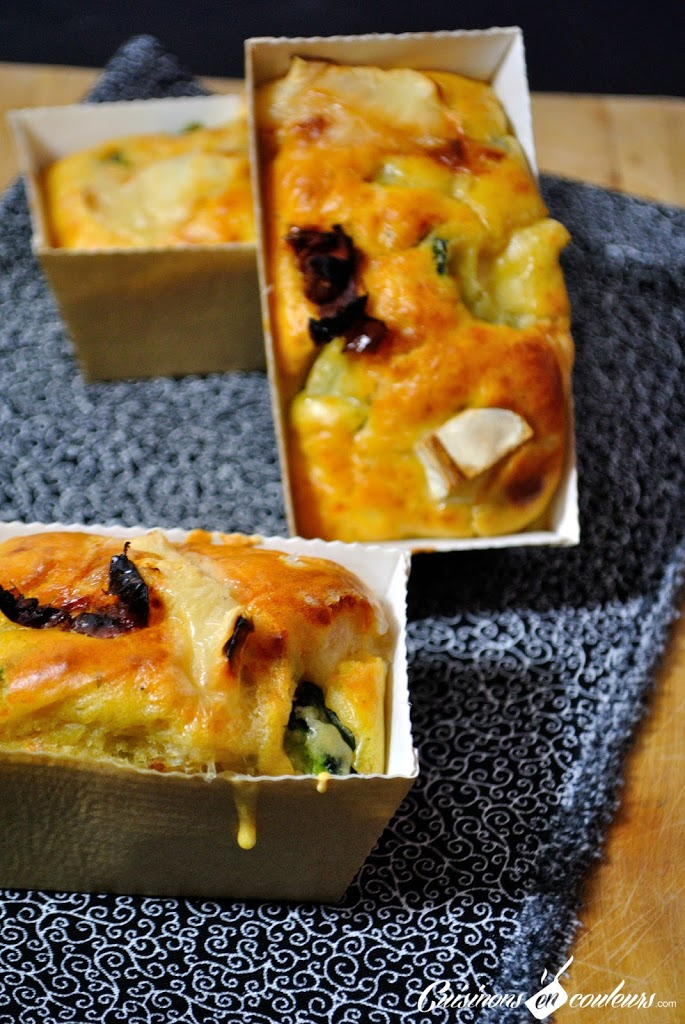 cake jambon fromage de chèvre