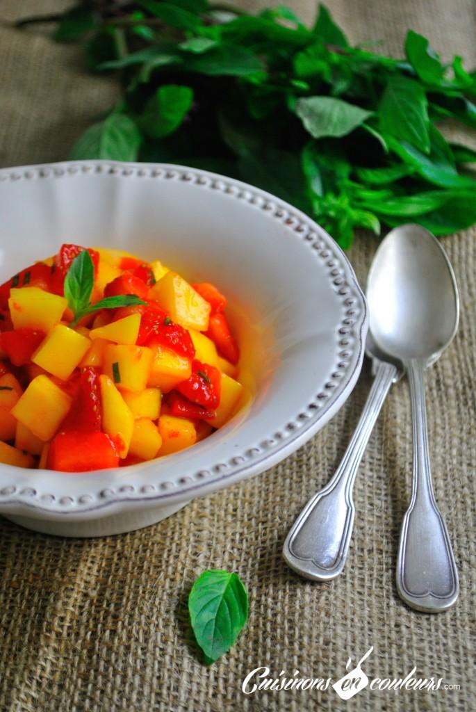 salade de fraises et de mangues