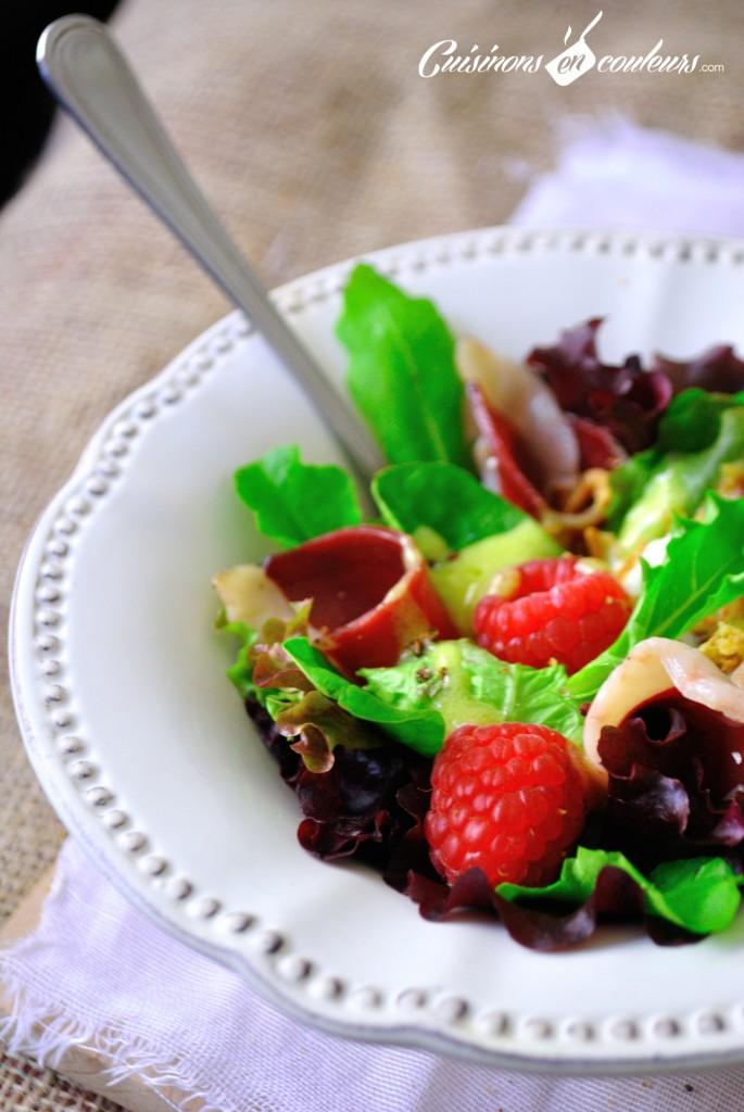 magret de canard salade