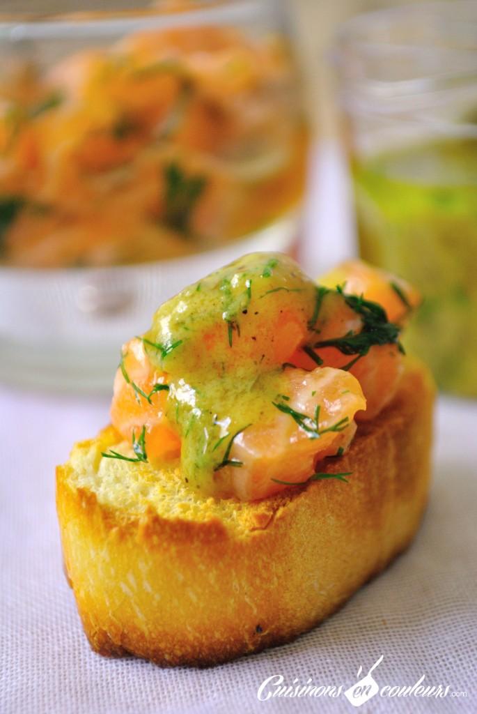 saumon gravlax toast