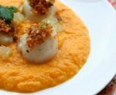 Noix de Saint-Jacques aux agrumes et émulsion de carottes