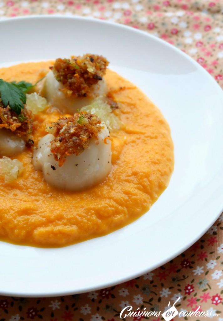 Saint Jacques aux agrumes et carottes