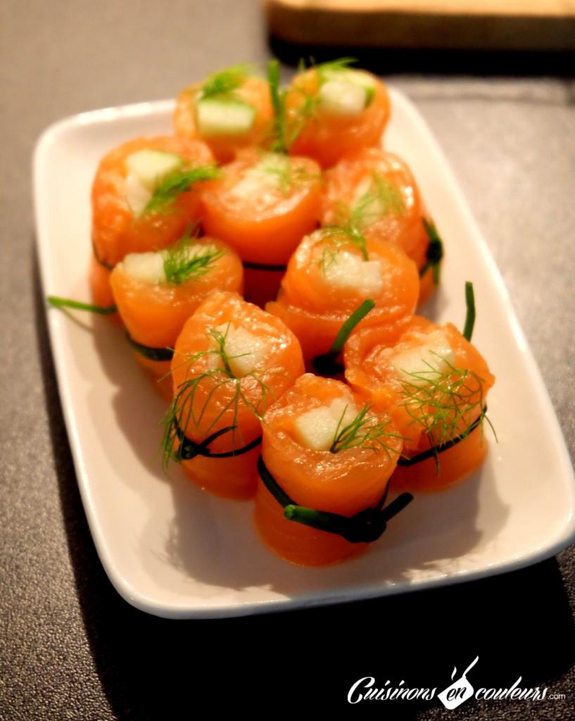 maki saumon pomme fenouil