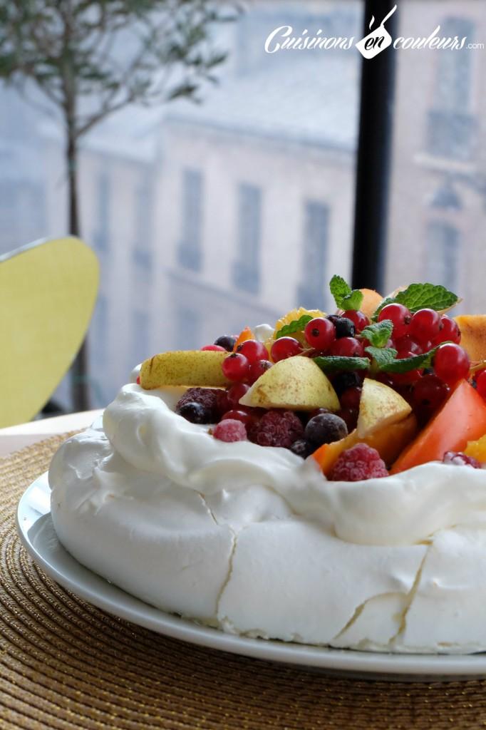 pavlova aux fruits facile