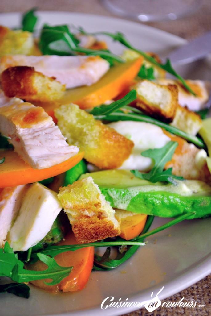salade kaki poulet