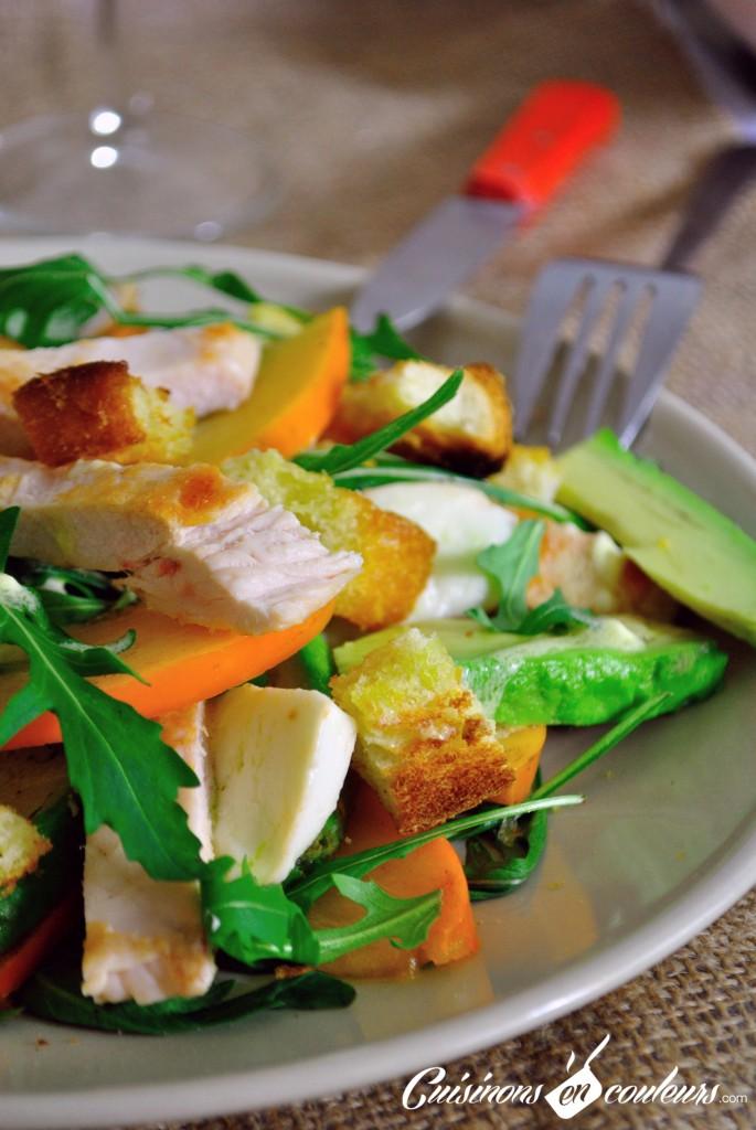 salade poulet kaki