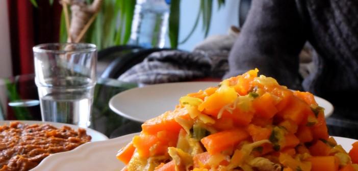 Tajine de poulet aux carottes et citron confit : Version express