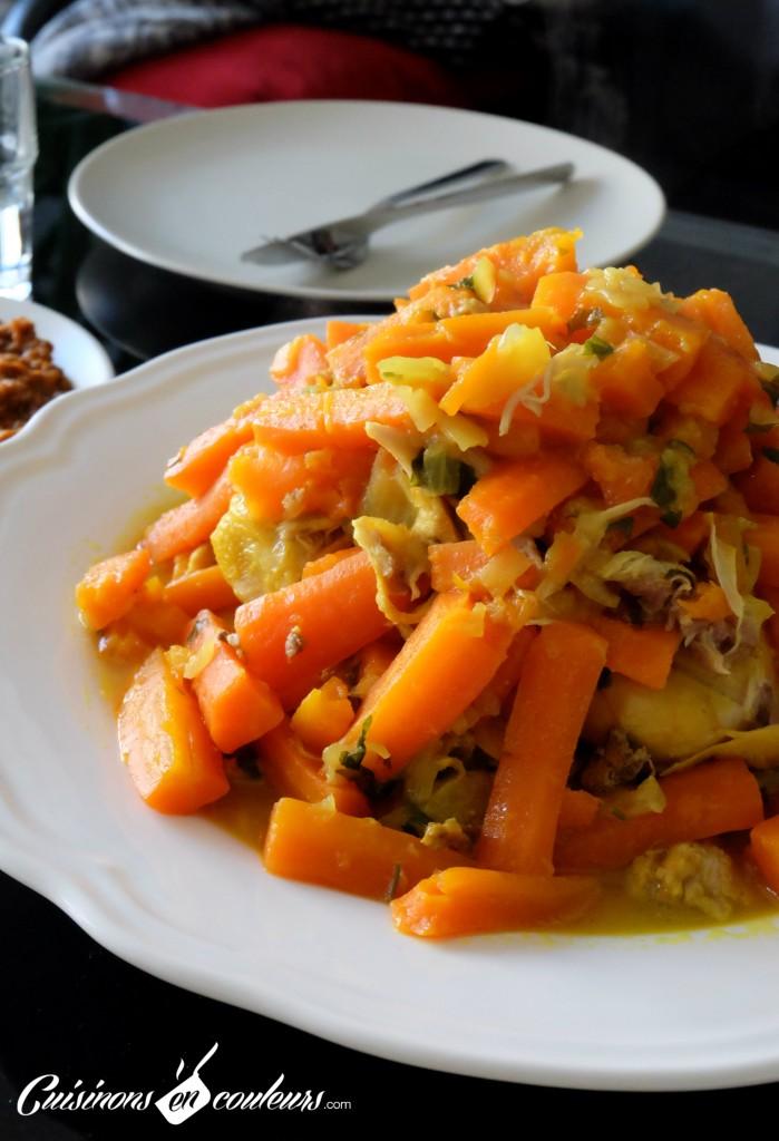 tajine poulet carottes citron confit