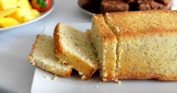Cake fondant au citron et aux graines de pavot