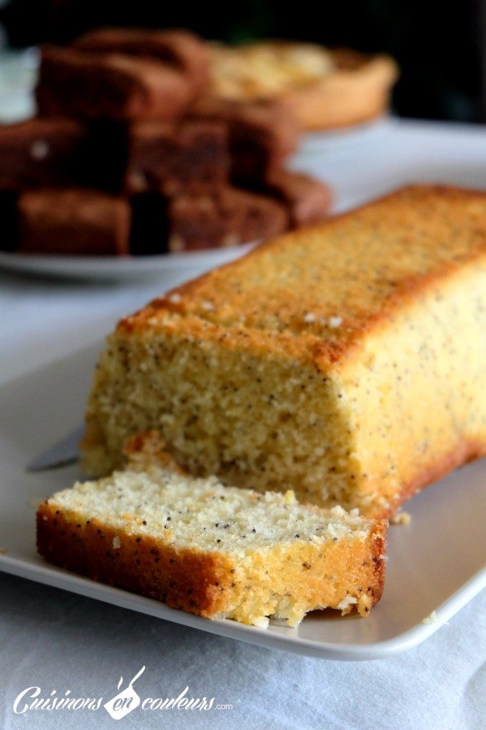 Cake fondant au citron et graines de pavot