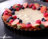 Tarte façon cheesecake aux fruits rouges