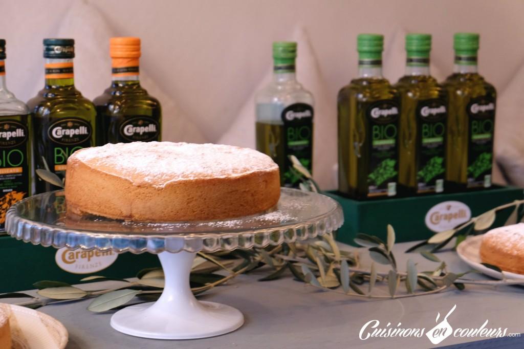 Gâteau Romantique à l'huile d'olive Carapelli