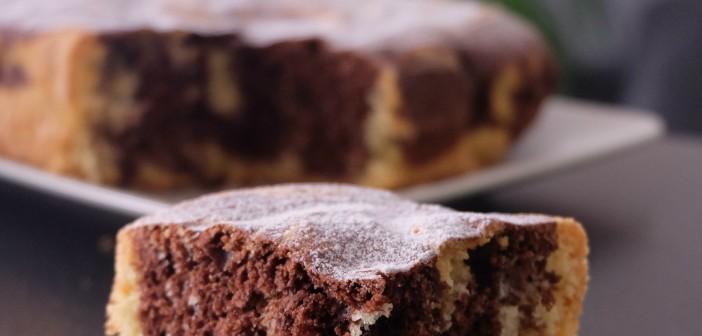 Le gâteau Romantique : un gâteau marbré au chocolat