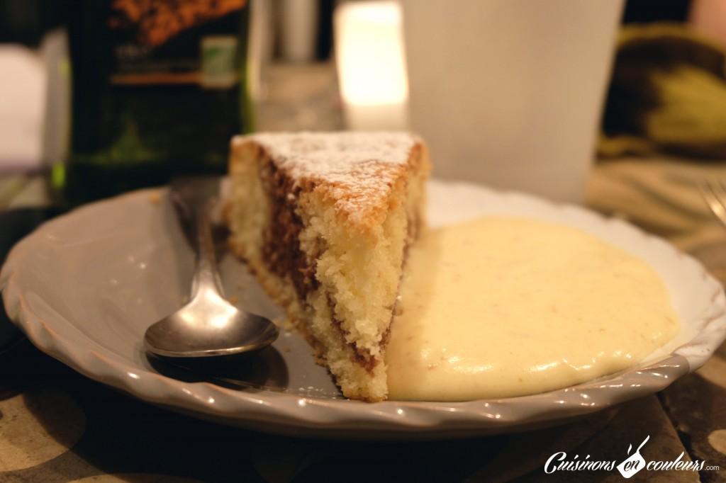 gâteau marbré au chocolat - gâteau romantique