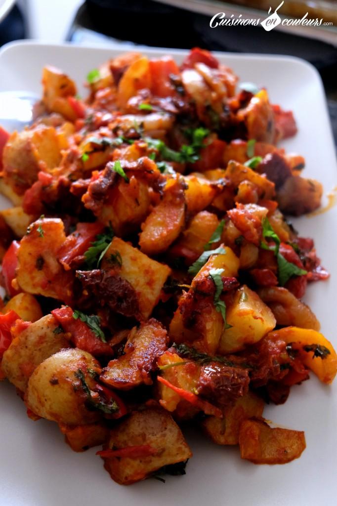 Caponata de pommes de terre