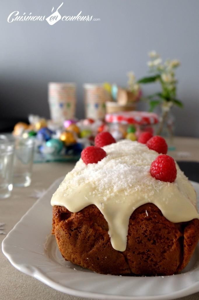 Cake Coco et framboises
