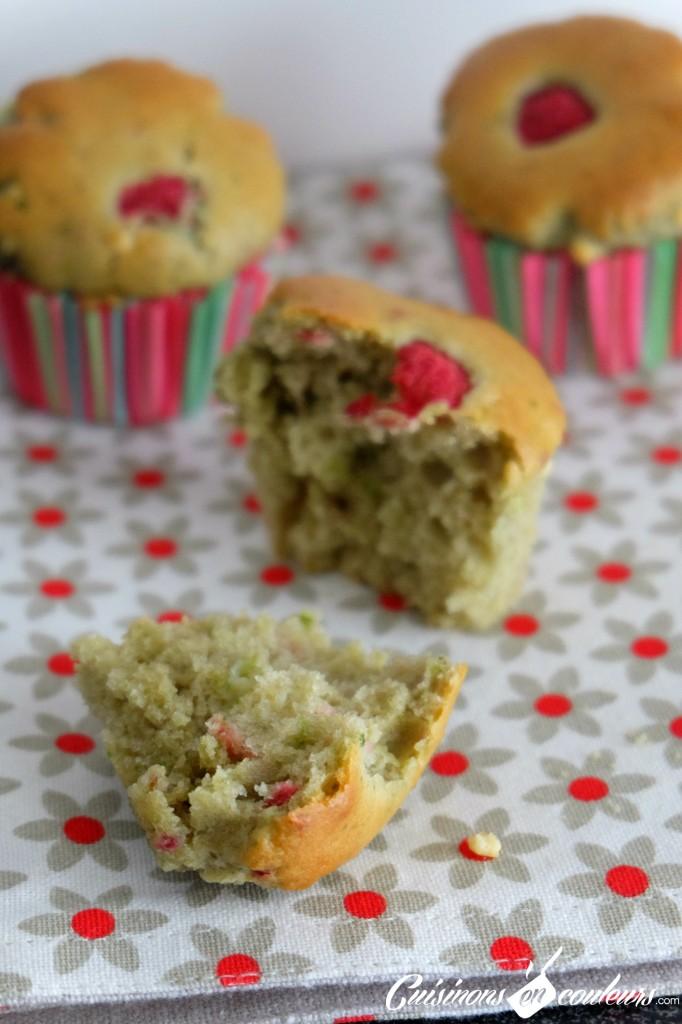Muffins the matcha et framboises