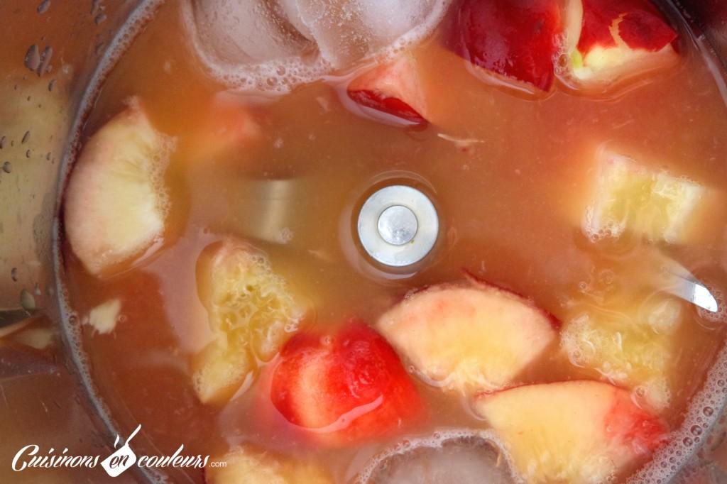 Préparation du smoothie
