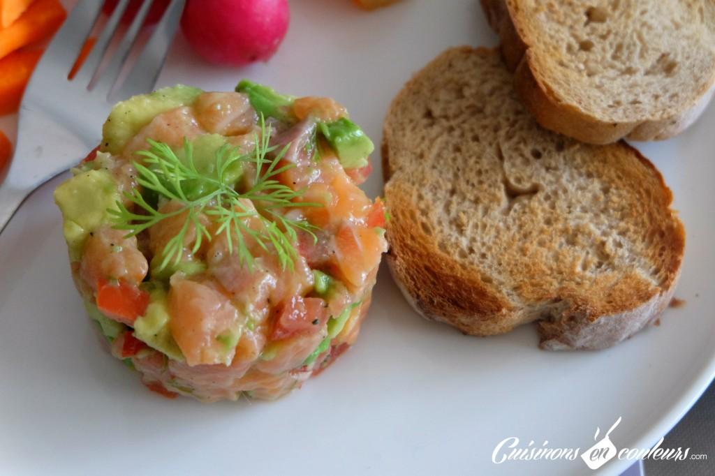 Tartare de saumon tomates et avocat