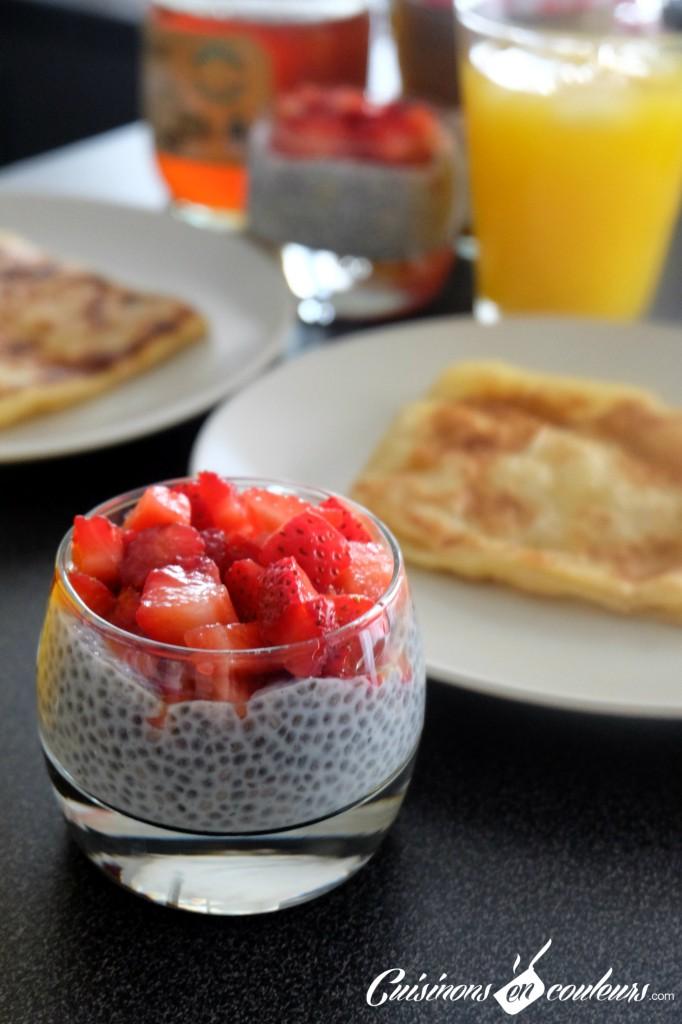Verrines Graines de Chia aux fraises
