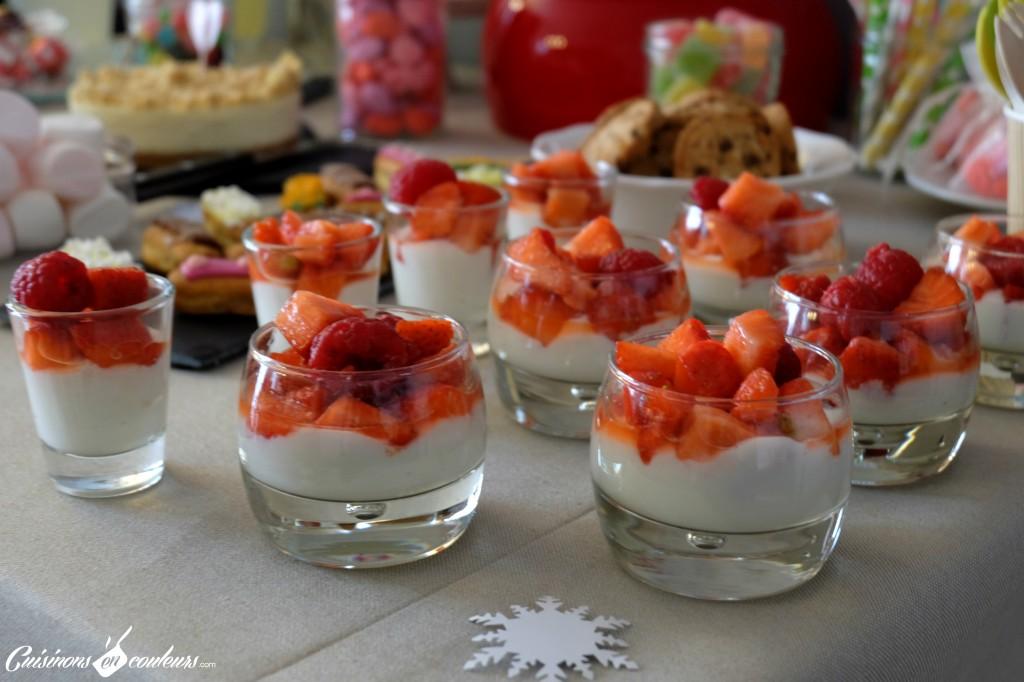 Verrines fraises framboises