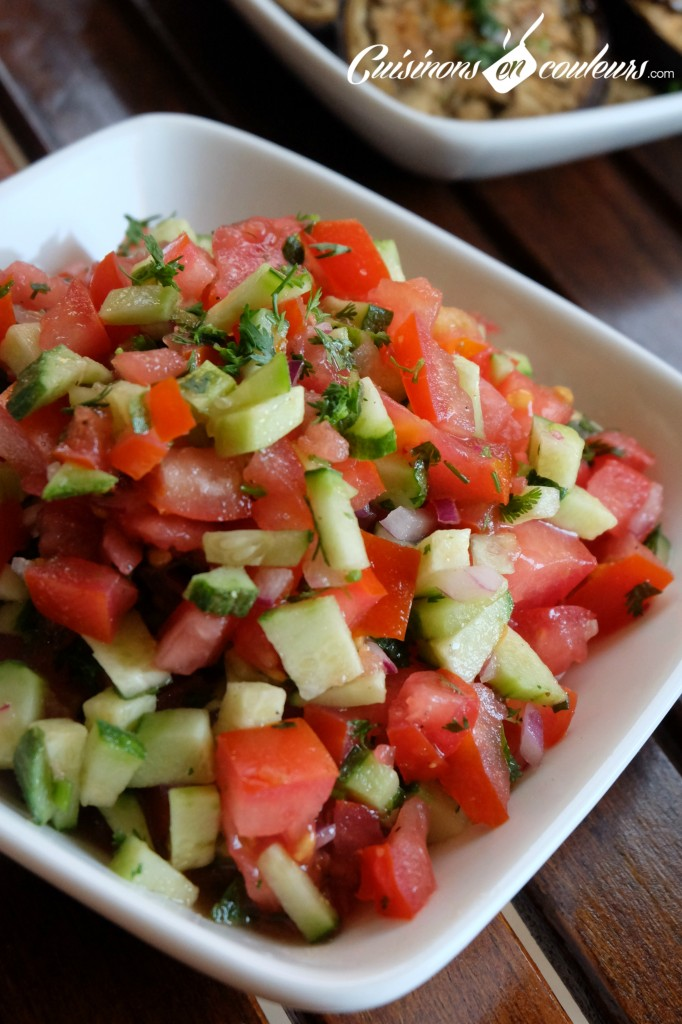 Salade de tomates et feggous