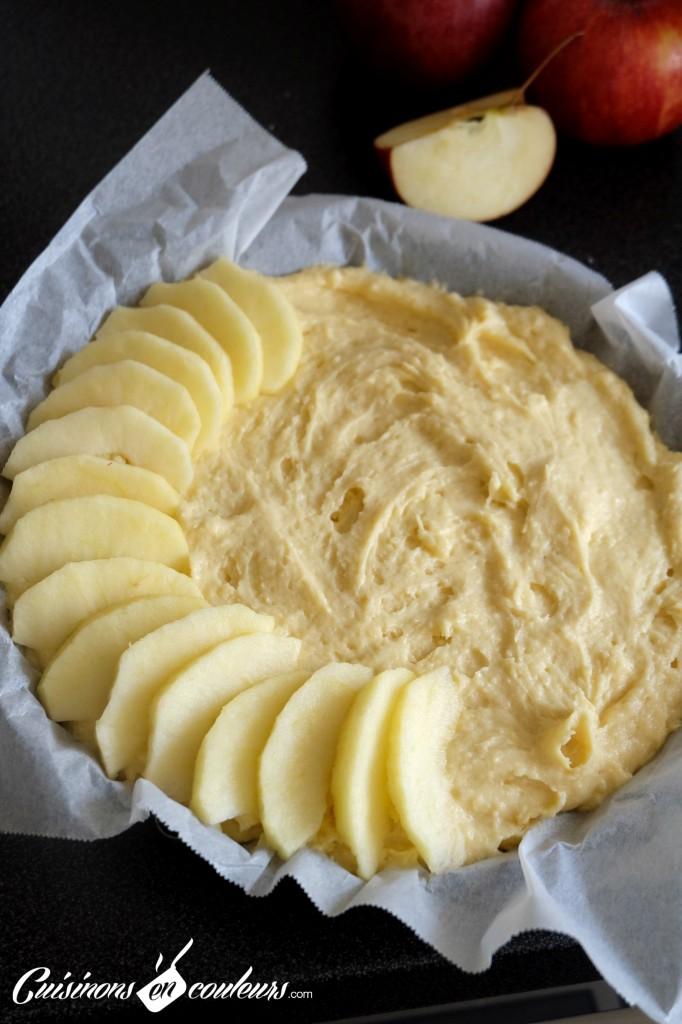 Mi g teau mi tarte fondant aux pommes gala cuisinons en couleurs - Dessin de tarte aux pommes ...