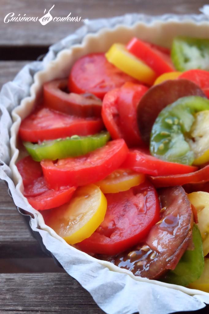Tarte aux tomates anciennes