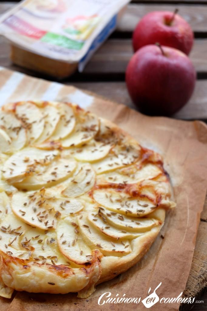 Tarte fine pommes raclette