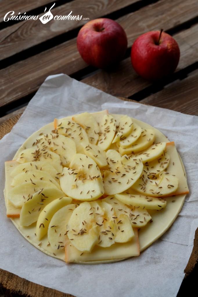 Tarte fine pommes-raclette