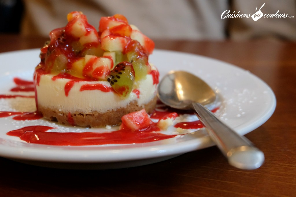 bistro valois cheesecake aux fruits