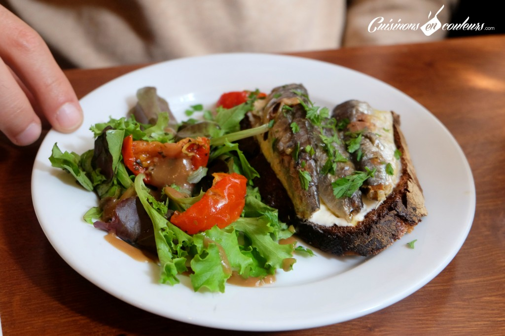 bistro valois tartine de sardines