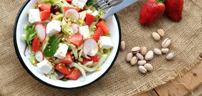 Salade de fenouil aux fraises et pistaches
