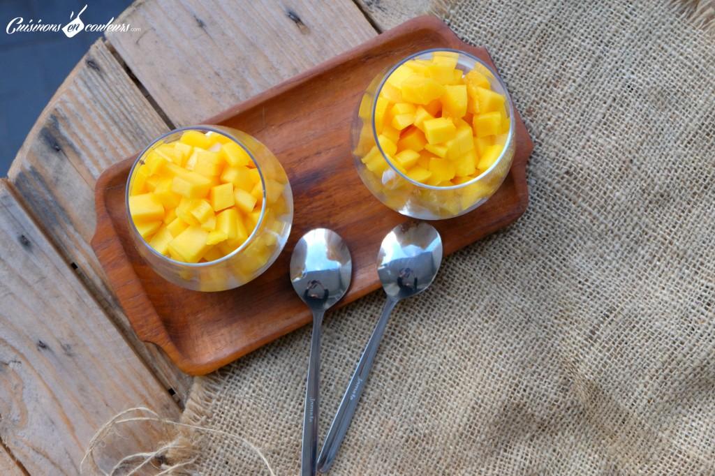 Verrines a la mangue et au citron vert