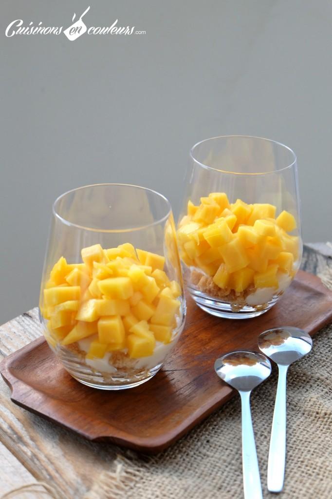 Verrines express a la mangue