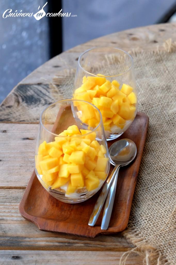 Verrines express a la mangue et au citron vert