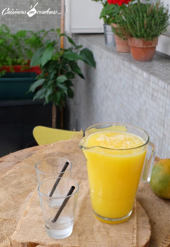 Agua de Mango - Cuisinons En Couleurs