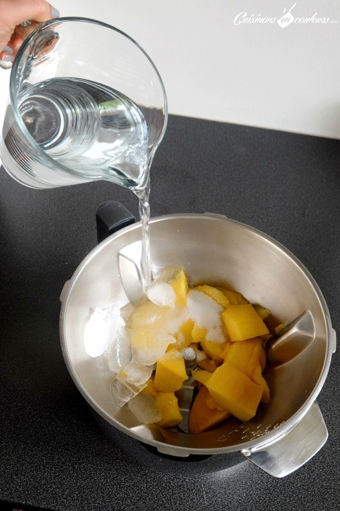 Agua de mango - Preparation