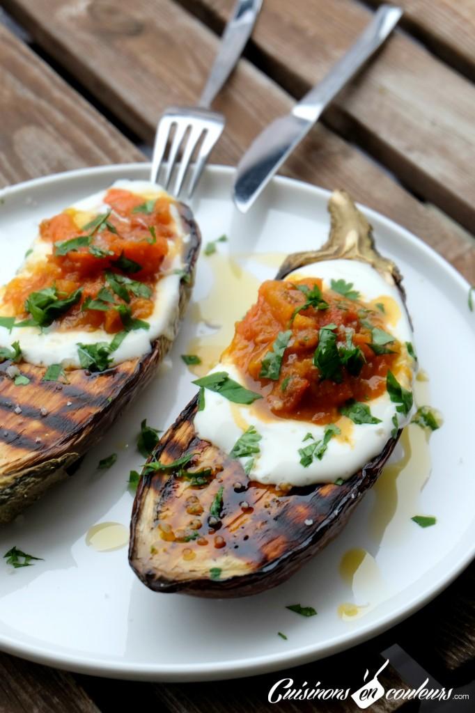 Aubergines grill es la sauce tomate cuisinons en couleurs - Sauce pour crustaces grilles ...