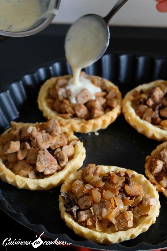 Tartelettes a la viande et a la bechamel