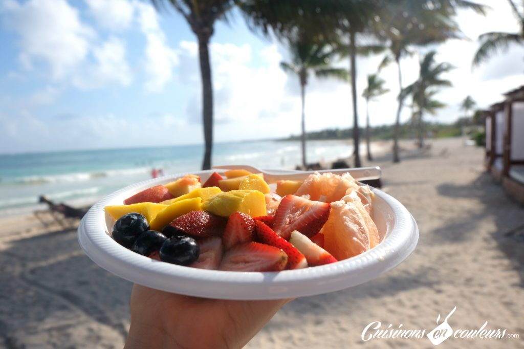 Fruits sur les plages du Mexique