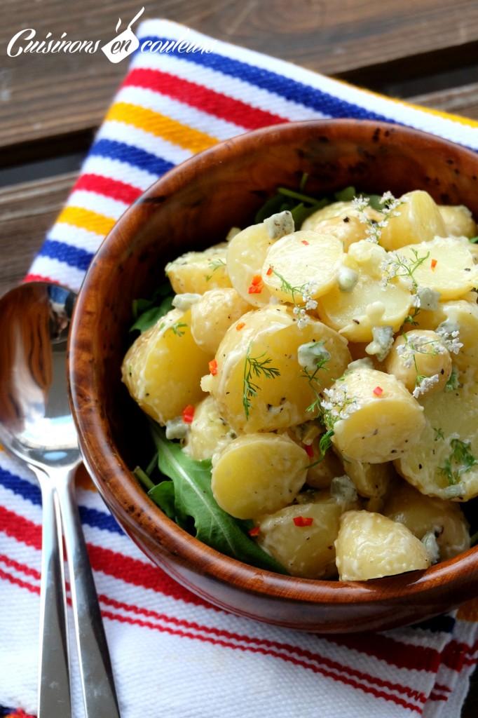 Salade facile de pommes de terre au citron confit