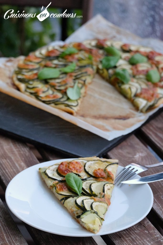 Tarte green courgettes