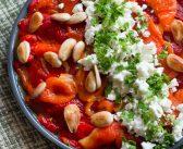 Salade de poivrons grillés à la feta et aux amandes