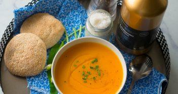 Soupe de crevettes aux carottes