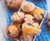 Muffins aux nectarines et aux myrtilles