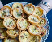 Minis quiches aux tomates séchées et à la mozzarella