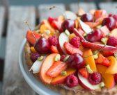 Tarte aux fruits et à la crème pâtissière à la vanille