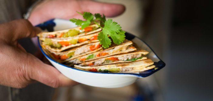 Quesadillas à la viande hachée et aux poivrons