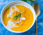 Velouté de patate douce et carottes au lait de coco